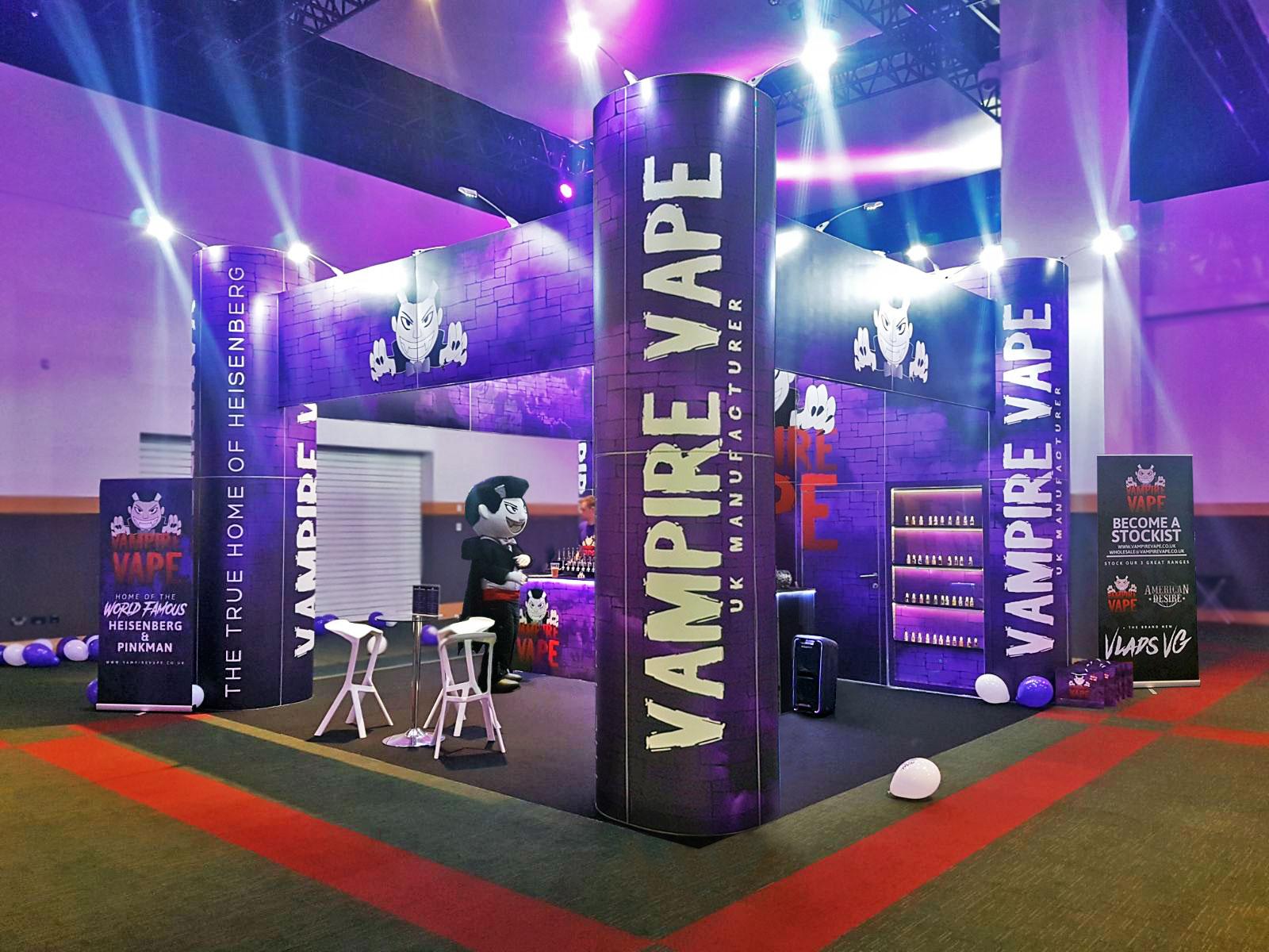 Expo Exhibition Stands Uk : Vampire vape national vape expo dublin mercer exhibitions